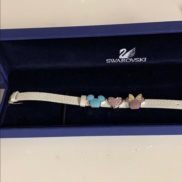 Swarovski crystal Mickey and Minnie Mouse bracelet